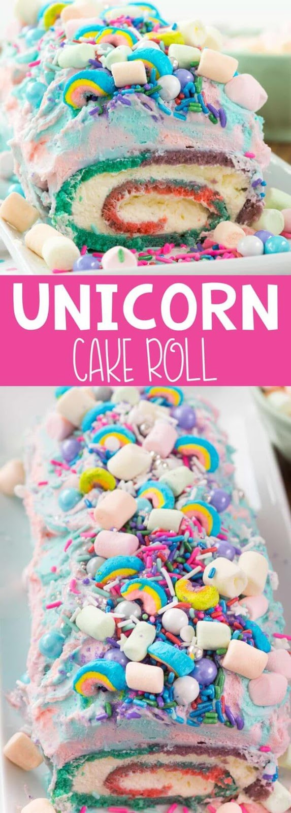 Unicorn Cake Roll