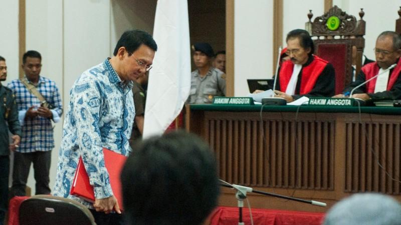 Ahok menghadiri sidang lanjutan kasus penistaan agama