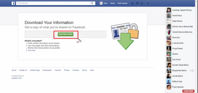 how to get deleted facebook account messages