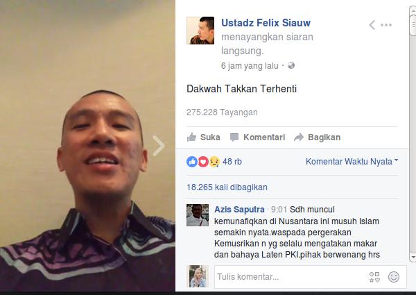 Ustaz Felix Siauw Bicara Soal Pembubaran Kajiannya di Malang
