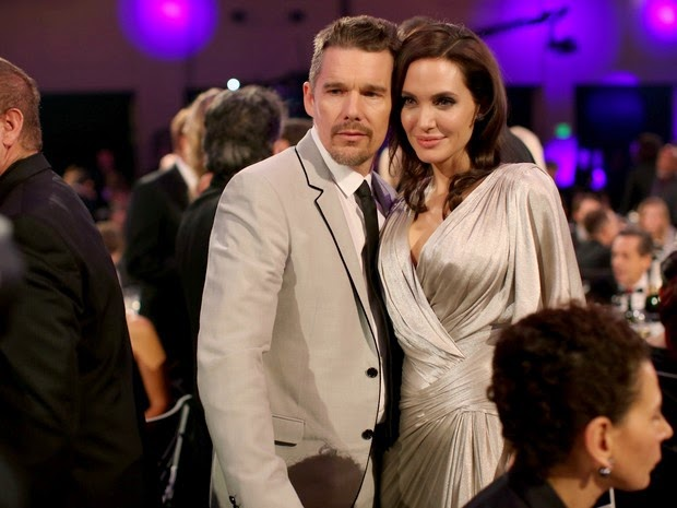 Ethan Hawke and Angelina Jolie prize in Los Angeles
