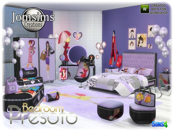 My Sims 4 Blog: Presoto Girly Bedroom Set by JomSims