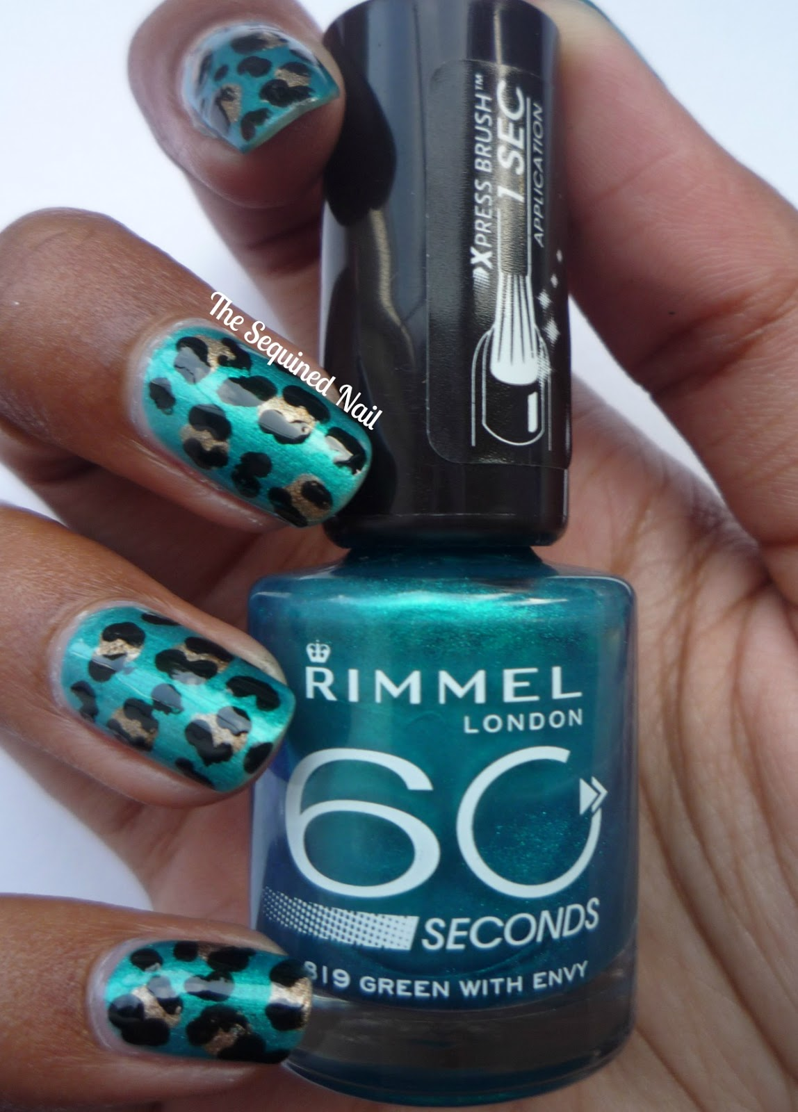 The Sequined Nail Leopard Print Nails