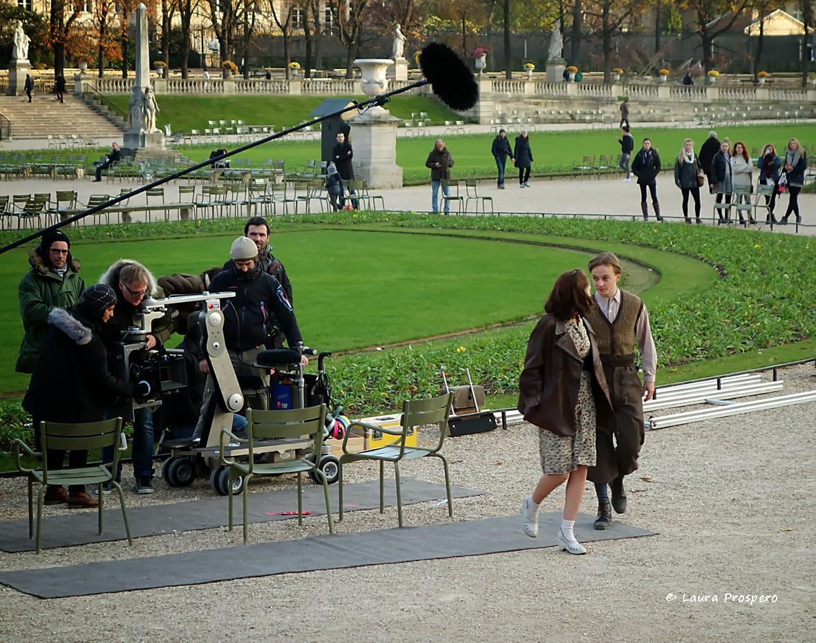 set de filmagem, Jardin du Luxembourg © Laura Prospero