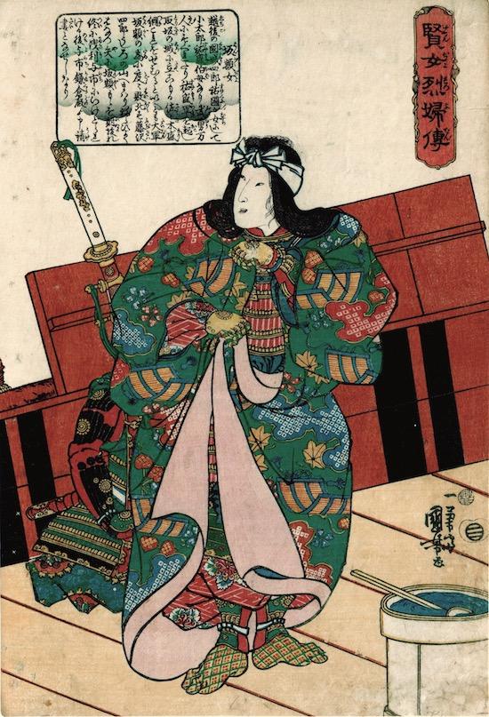 Kuniyoshi, Hangaku-jo, Virtuous Wives. 1842