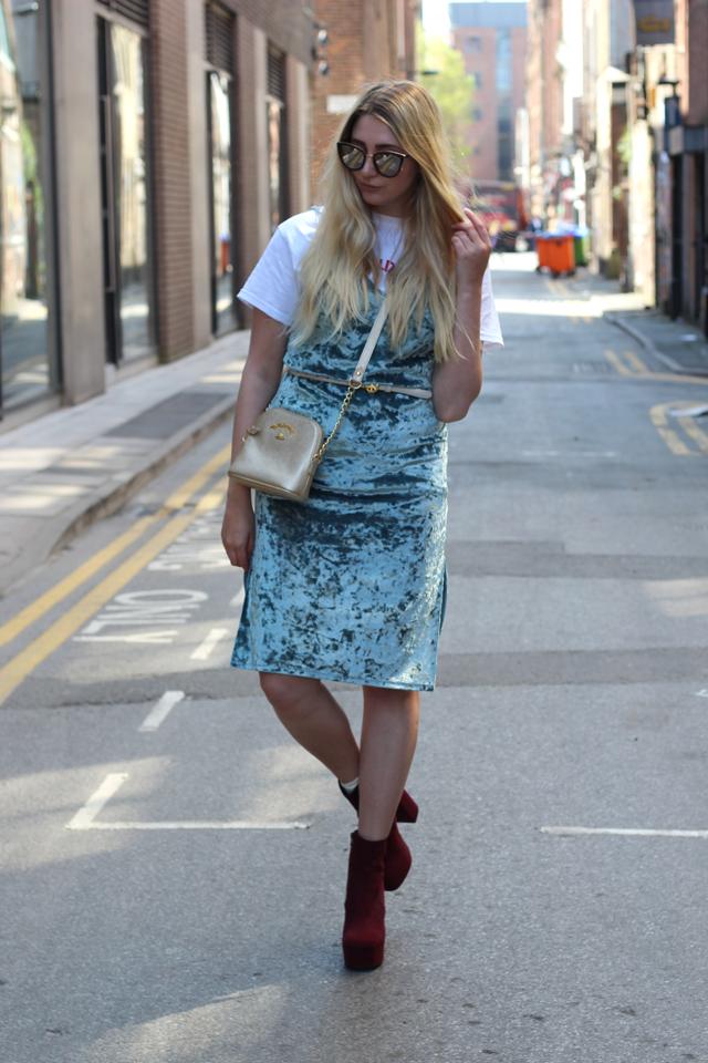 how to wear slip dress uk fashion blog