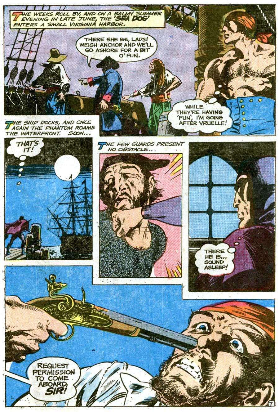 The Phantom v2 #74 charlton comic book page art by Don Newton