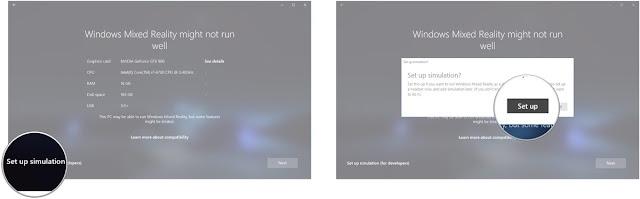 Windows Mixed Reality Simulator