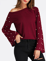 Pull rouge bordeaux