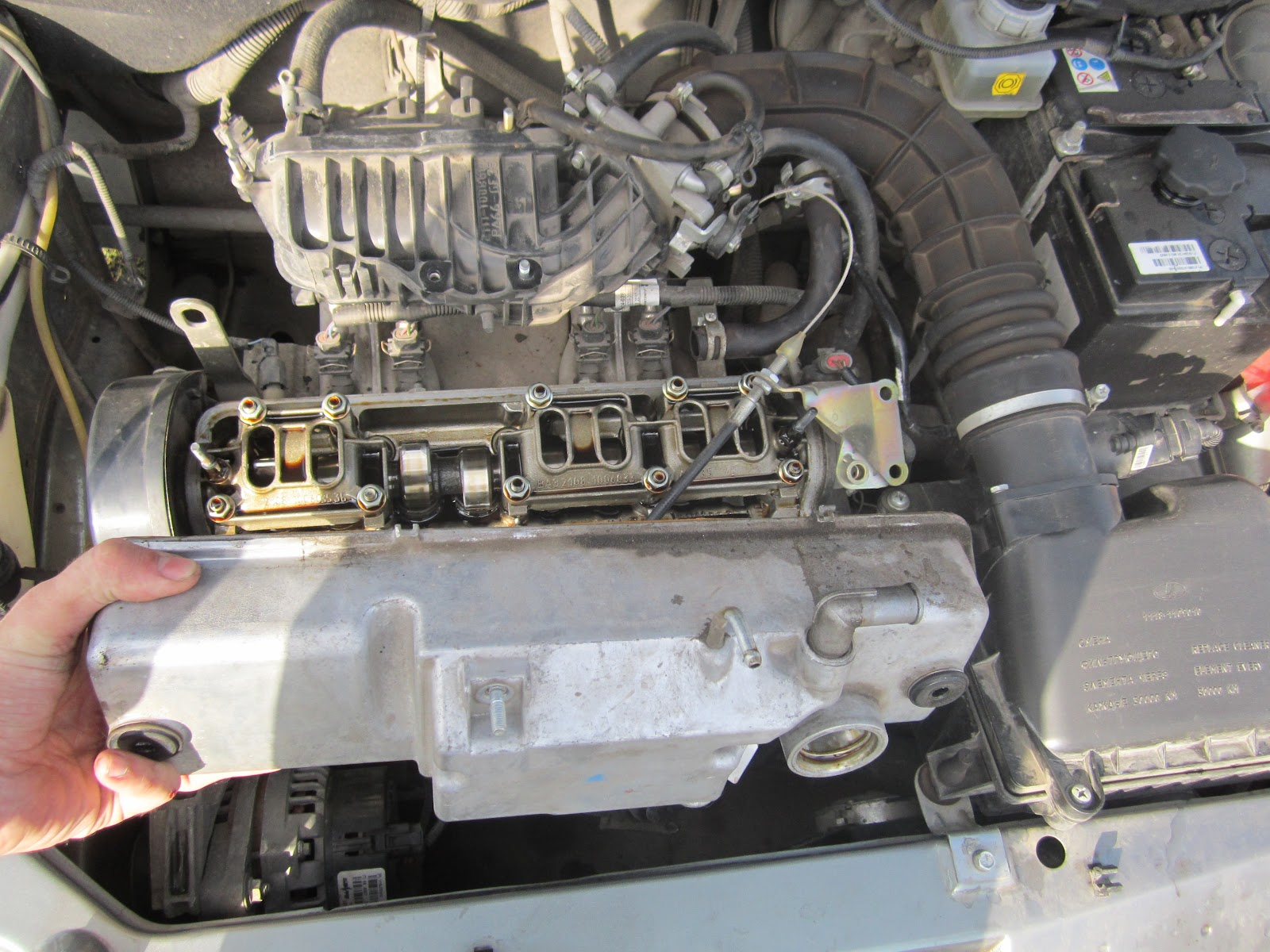 Фото №9 - замена прокладки клапанной крышки ВАЗ 2110 8 кл