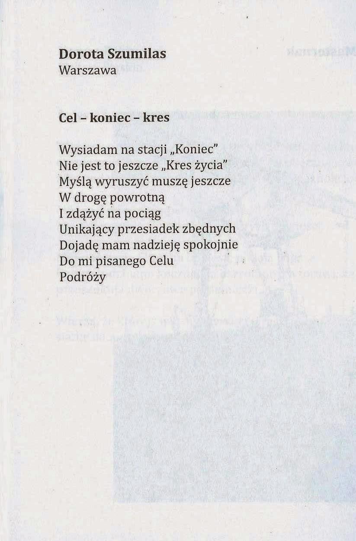 Dorota Jolanta Szumilas Pociąg Naszego Wieku Antologia