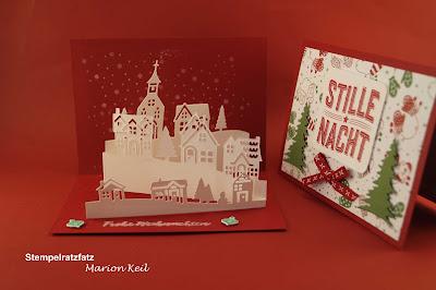 """Weihnachtskarte """"Winterstädtchen"""" mit Stampin´ Up!"""