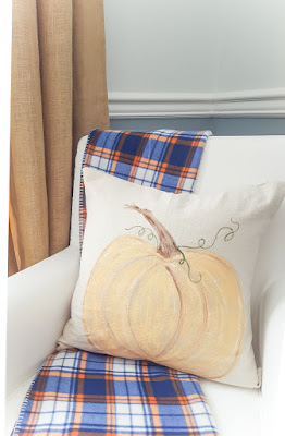 painted pumpkin pillow
