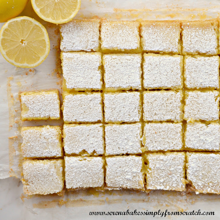 25 Last Minute Christmas Cookie Ideas. Lemon Bars.