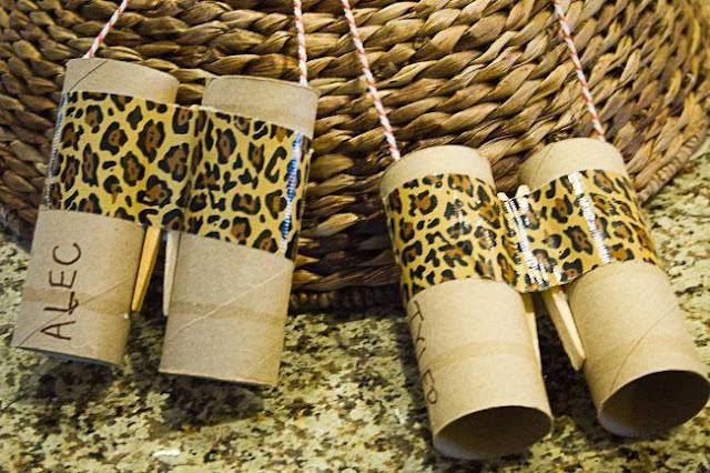 Ide membuat kerajinan berbentuk teropong menggunakan kertas roll toilet untuk anak-anak