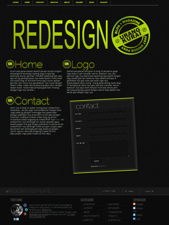 Redesign-template