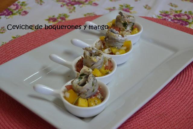 CEVICHE DE BOQUERONES Y MANGO.