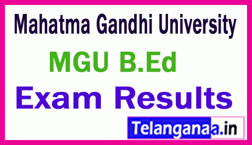 Mahatma Gandhi University MGU B Ed Exam Results