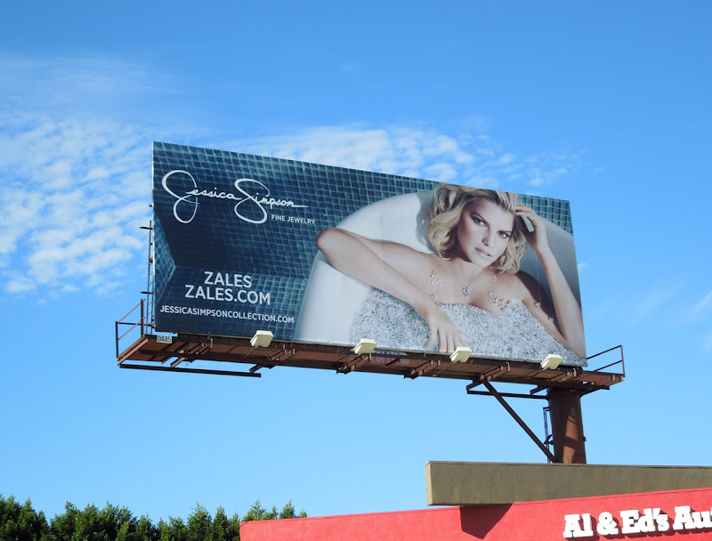 Jessica Simpson Zales bathtub billboard