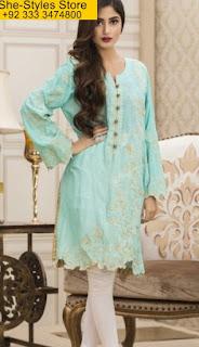 Veena Durrani Chiffon Kurti Collection 2017