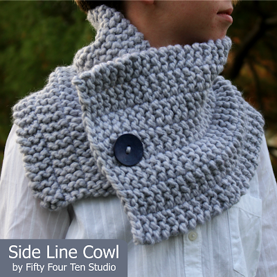 Fifty Four Ten Studio: Free Knitting Pattern - Side Line Cowl