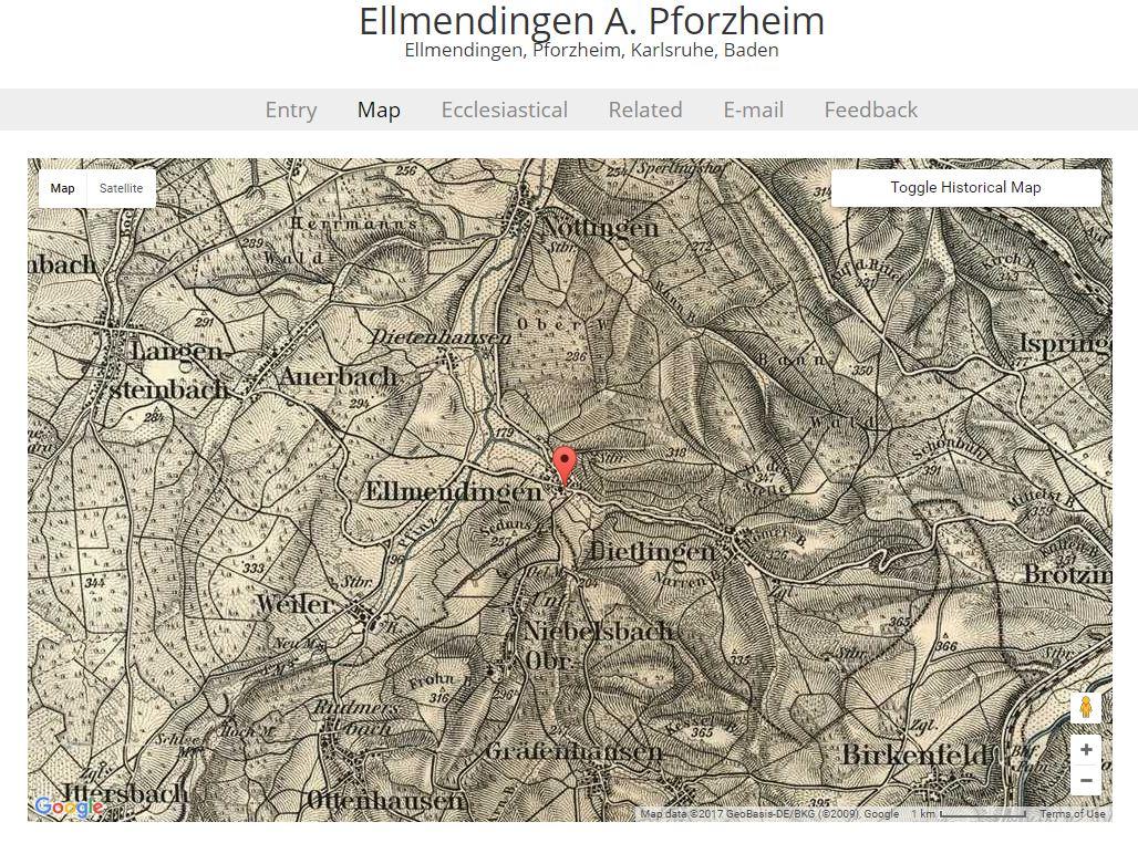 Map Of Germany Karlsruhe Baden.Miles Genealogy Tips German Research Using Maps
