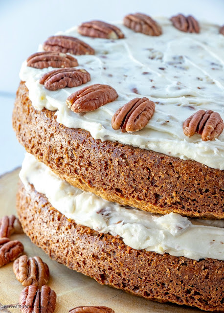 Easy Carrot Cake recipe from Served Up With Love