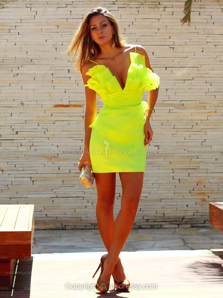 Msdressy Reviews: Sexy & Stunning Look in Neon Yellow ...
