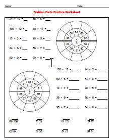 Simple Division Worksheet