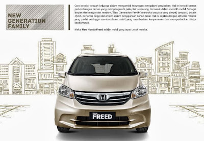 Spesifikasi Honda Freed