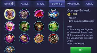 Courage Bulwark Mobile Legends