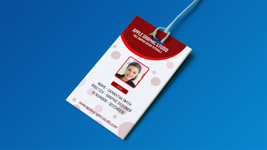 Create Professional ID Card Template - Photoshop Tutorial - Apple ...