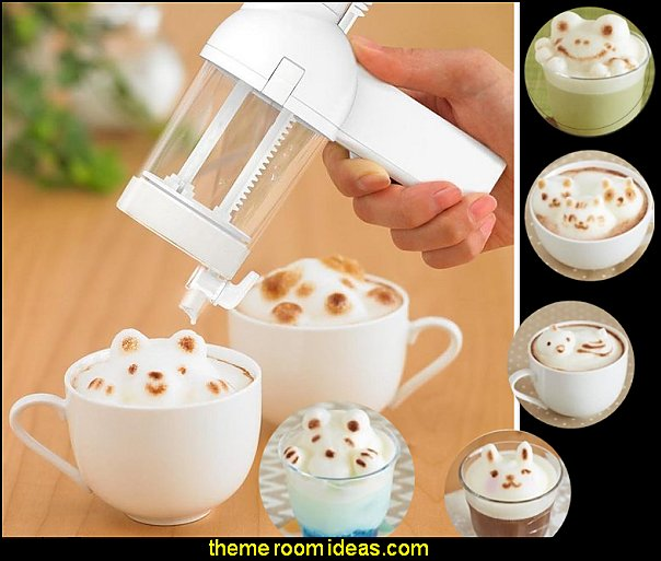 3D Latte Art Maker  kitchen accessories - fun kitchen decor - decorative themed kitchen  - novelty mugs - kitchen wall decals - kitchen wall quotes - cool stuff to buy - kitchen cupboard contact paper -  kitchen storage ideas - unique kitchen gadgets - food pillows