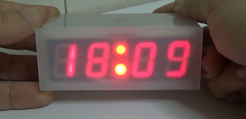 Arduino based segment display clock tutorial