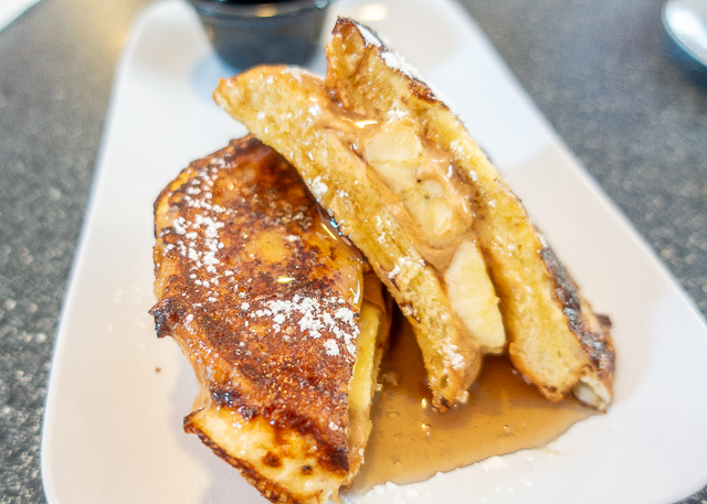Peanut Butter and Banana Stuffed French Toast - Blue Hen Cafe - St Augustine FL