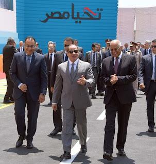 السيسي يفتتح مشروع الطاقة الرئيسي والمتحف الوطني في صعيد مصر