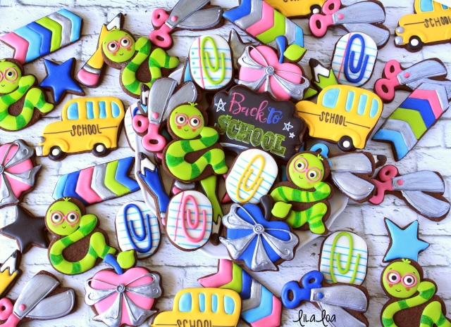 Learn how to make decorated sugar cookies for back to school!