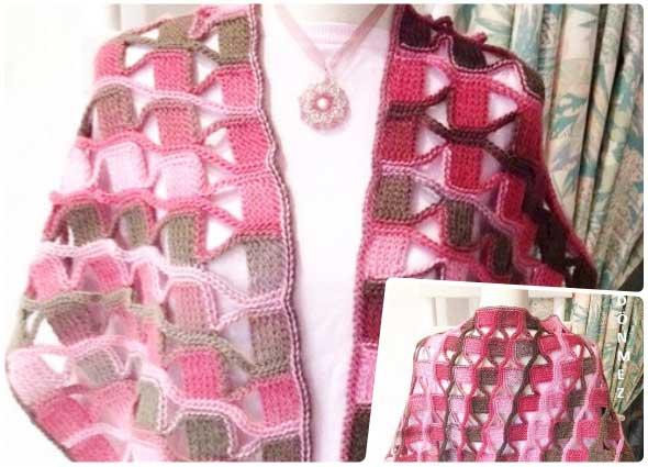 crochet, punto, esclavina, chal, mantas, ganchillo