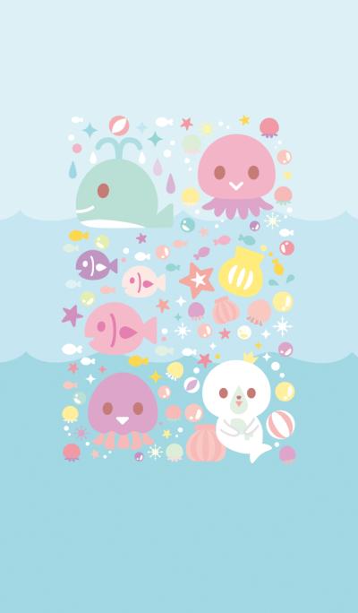 Pop pastel sea