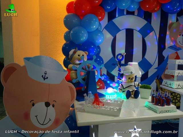 Mesa temática Ursinho Marinheiro - Decoração festa de aniversário