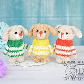 Собачки в свитерах схема амигуруми