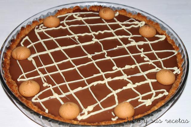 Tarta de caramelo y chocolate. Julia y sus recetas