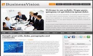 Business Vision Blogger Template