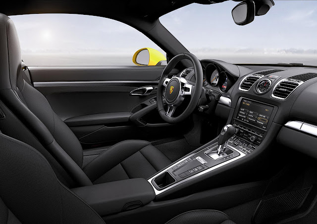 New Porsche Cayman unveiled at Los Angeles Auto Show 2012 interior
