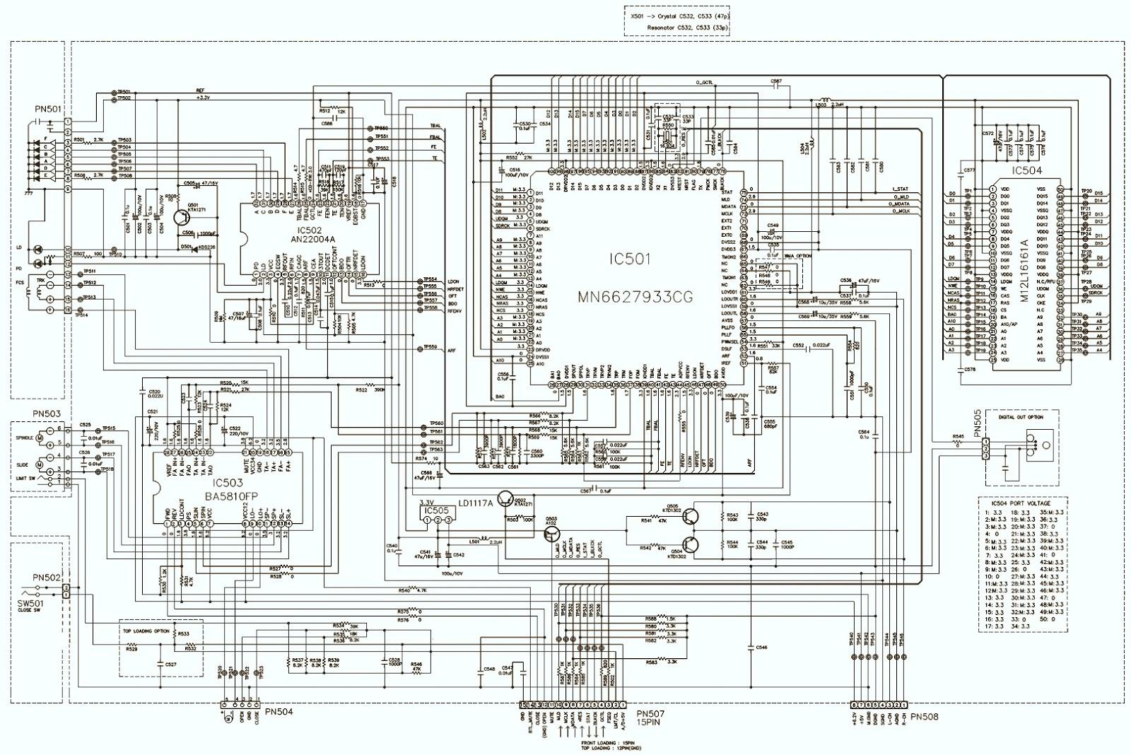 LG LPCLM530A MP3 CD CASSETTE Circuit Diagram