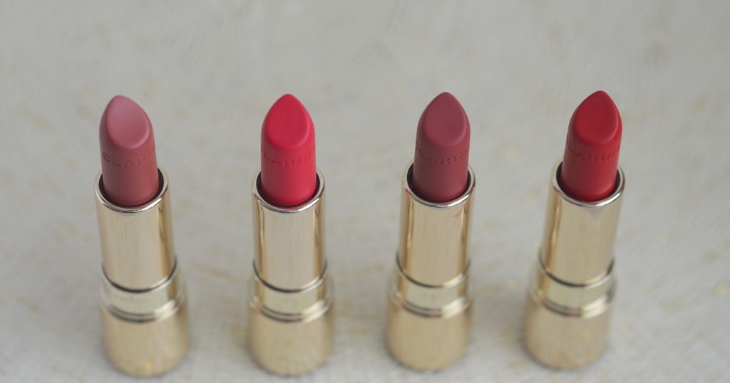 Clarins Joli Rouge Velvet Lipsticks Review Photos