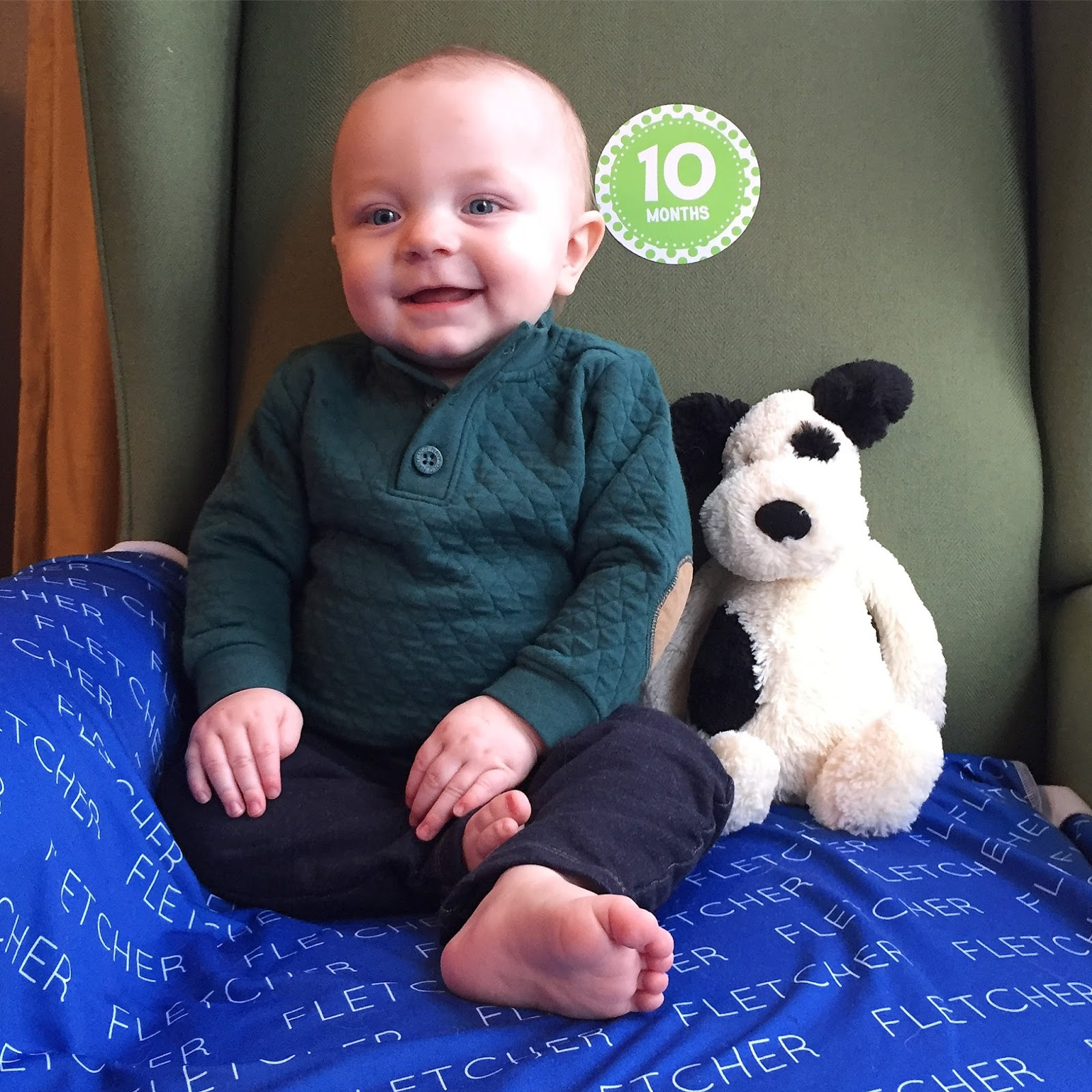 Polka-Dotty Place: Fletcher 10-12 Months