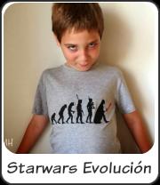 Camiseta evolución a Darth Vader