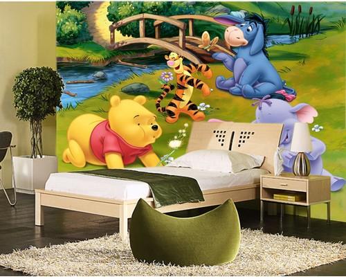 Disney tapetti Disney valokuvatapetti Nalle Puh tapetti lastenhuone lasten tapetti 3D tapetti Fund