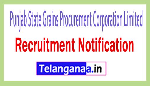 Punjab State Grains Procurement Corporation Limited PUNGRAIN Recruitment
